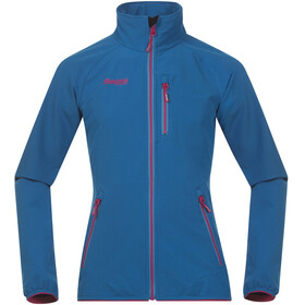 Bergans Youth Girl Kjerag Jacket LT Sea Blue/Hot Pink/Br Sea Blue